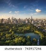 Vertical Panorama Of Lumpini...