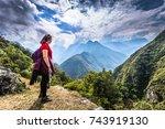 inca trail  peru   august 03 ...   Shutterstock . vector #743919130