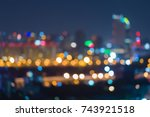 night light city business... | Shutterstock . vector #743921518