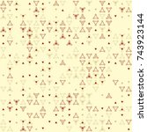 beautiful geometric pattern... | Shutterstock .eps vector #743923144