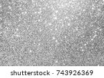 Silver And White Glitter...