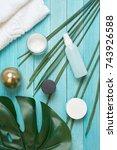 cosmetics  spa care             ... | Shutterstock . vector #743926588