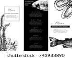 hand drawn fish illustration.... | Shutterstock .eps vector #743933890