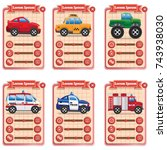 game cards with with service... | Shutterstock .eps vector #743938030