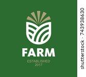 farm logo   Shutterstock .eps vector #743938630