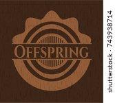 offspring wooden signboards | Shutterstock .eps vector #743938714
