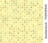beautiful geometric pattern... | Shutterstock .eps vector #743939944