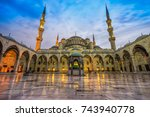 the blue mosque   sultanahmet... | Shutterstock . vector #743940778