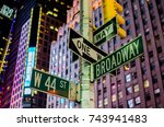 Broadway And 44st Street Signs...