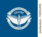 logo college. academy ... | Shutterstock .eps vector #743941990