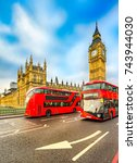 thge big ben  house of... | Shutterstock . vector #743944030