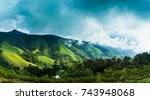 forest mountains landscape in... | Shutterstock . vector #743948068