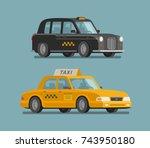 taxi service  cab concept. car  ... | Shutterstock .eps vector #743950180