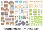 set of landscape elements....   Shutterstock .eps vector #743958439