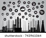 industry 4.0 concept  internet... | Shutterstock .eps vector #743961064