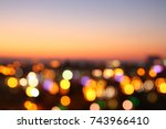 abstract image of blurred night ... | Shutterstock . vector #743966410