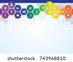 medical background and icons | Shutterstock .eps vector #743968810