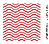 red vector ornament waver logo | Shutterstock .eps vector #743975158