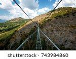 tibetan bridge | Shutterstock . vector #743984860