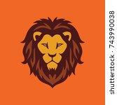 wild lion logo | Shutterstock .eps vector #743990038
