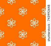 atom with electrons pattern