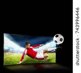 realism of sporting images...   Shutterstock . vector #743996446