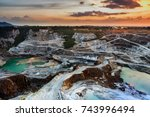 opencast mining quarry with...   Shutterstock . vector #743996494