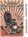 barber shop poster template....   Shutterstock .eps vector #743996740