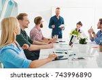 team of businessmen work...   Shutterstock . vector #743996890