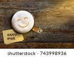 happy hour concept for bar ... | Shutterstock . vector #743998936