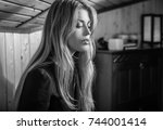 elegant young beauty woman in...   Shutterstock . vector #744001414