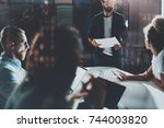 business people meeting concept.... | Shutterstock . vector #744003820