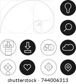 golden ratio icons   bulb ...