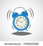 alarm clock  wake up time | Shutterstock .eps vector #744033280
