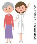 nurse patient   Shutterstock .eps vector #744036724
