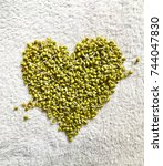 Small photo of Green gram sprouts in heart shape
