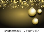 illustration of christmas... | Shutterstock . vector #744049414