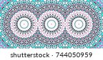 colorful kaleidoscopic...   Shutterstock . vector #744050959