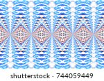 colorful horizontal pattern for ... | Shutterstock . vector #744059449