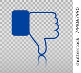 dislike icon. thumb down  hand... | Shutterstock .eps vector #744067990