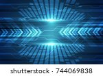 abstract speed technology... | Shutterstock .eps vector #744069838