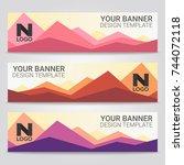 abstract beautiful banner... | Shutterstock .eps vector #744072118