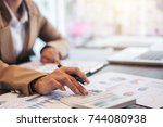business financing accounting... | Shutterstock . vector #744080938