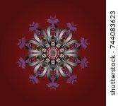 vector illustration. snowflakes ... | Shutterstock .eps vector #744083623