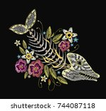 Embroidery Fish Bone And...
