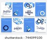 creative illustration  poster... | Shutterstock .eps vector #744099100