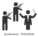 business command. icon. | Shutterstock .eps vector #744103420