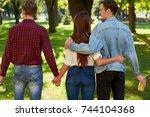 friendship love jealousy... | Shutterstock . vector #744104368