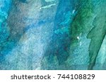 multicolored watercolor painted ... | Shutterstock . vector #744108829