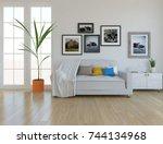 White Scandinavian Room...
